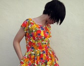 1940s sparkling floral dress/ 40s dress/ can't take my eyes off you