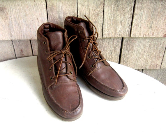 Vintage Ll Bean Moccasin Toe Boots Moccasin Stitching