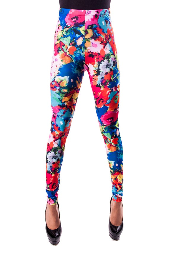 DISCOUNTED Blue Floral Leggings