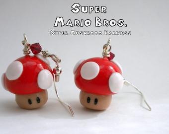 Mario Super Mushroom Earrings - Nintendo