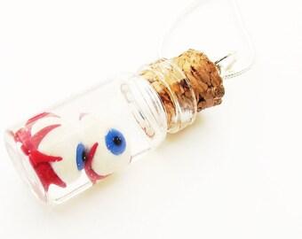 Eyeballs in a Jar Bottle Necklace