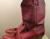 FRYE Oxblood Leather Boots