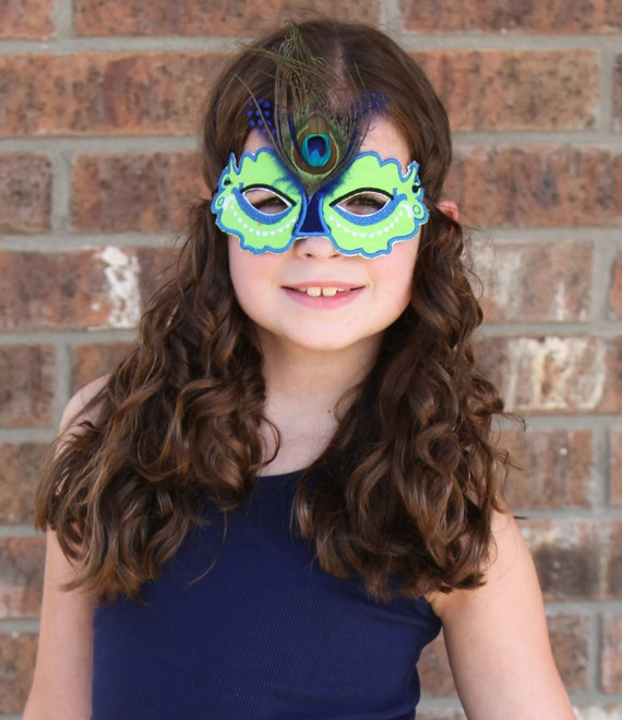 Peacock Mask - ADULT SIZE