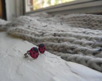 Lady Bug Earrings