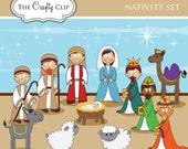 SALE! Nativity Set Clip Art