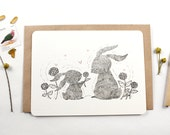 10 Thank You Notecards - Mother Rabbit