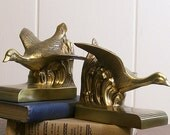 Vintage Bookends Searching Goose Brass Finish