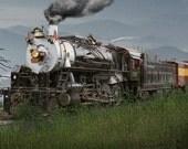 Great Smokey Mountain Railroad Engine No.1702 A Fine Art Landscape Photograph of an Old Vintage Railroad Train