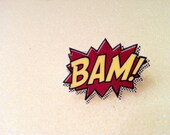 BAM Comic Book Superhero Action Ring in Yellow and Red