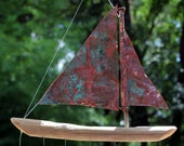 Reserved Listing: One 7 fish copper sailboat and one 5 fish copper sailboat with next day shipping