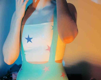 Latex Rubber Star Applique Top