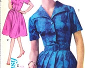 1960s UNCUT Bust 34 Advance Misses Dress with Long or Short Sleeve c 1962 3063