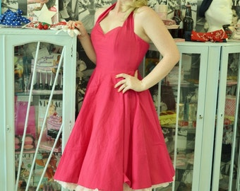 Pink Cerise 1950's style dress