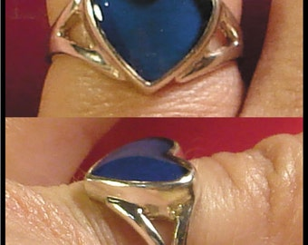 Mood Ring Sterling Silver 10MM Heart Splitband