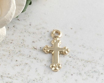 Add a Charm - Small Gold-Filled Cross Charm 11mm x 7mm
