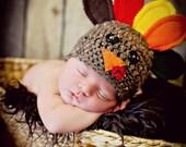 Newborn Photo Prop Baby Turkey Hat