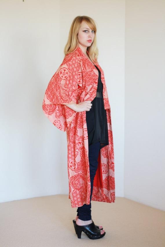 70's Printed Cotton Kimono