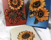 Sunflower Quilted Greeting Card