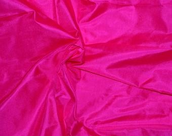Silk Taffeta in Magenta color - Fat quarter -TF 58
