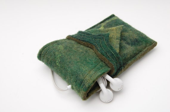 Wool Felt iPhone Case - iPod Touch - Forest Green Merino