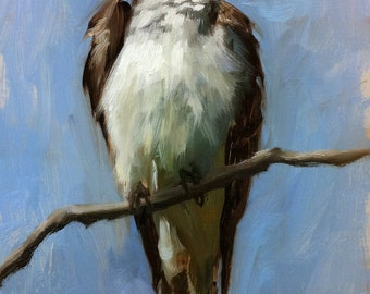 Eastern Kingbird - Bird Painting - Open Edition Print