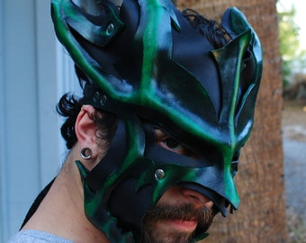 Emerald Leather Great Dragon Mask 2.0