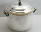 Vintage Ornate Silver Ice Bucket, Oneida Silverplate, Barware