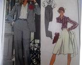 Vogue 1143 Women Jacket Pants Skirt Blouse Pattern