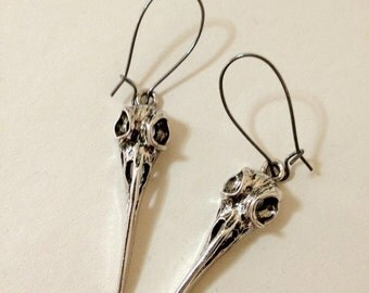 Big Bird Skull Earrings Bellatrix of Harry Potter