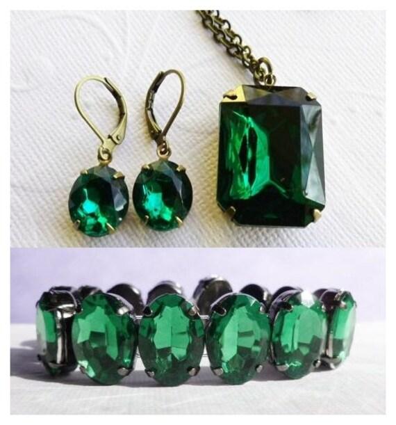 Emerald Green Jewelry Set