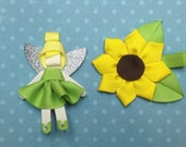 Tinkerbell Fairy OR Sunflower Clip