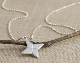 Origami Shuriken (Ninja Star) Necklace