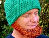 Crochet PATTERN Irish Beard Beanie REVERSIBLE - Photo Tutorial in PDF - p105