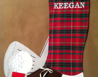 Custom Golf personalized stocking or gift bag