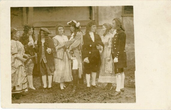 "Vintage Photo Postcard ""Costume Meeting"", Photography, Paper Ephemera, Snapshot, Old Photo, Collectibles - 0034"
