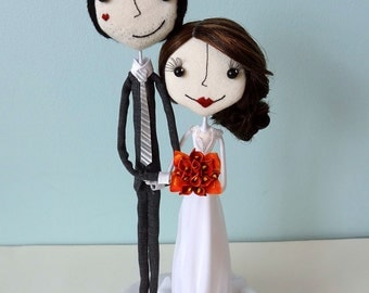 Beautiful and Whimsical Handcrafted Custom Wedding Cake Toppers