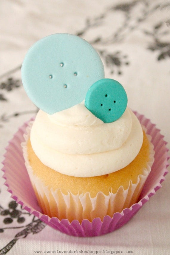 Etsy Cake Decorations : Items similar to Cute As A Button Edible Cake or Cupcake ...