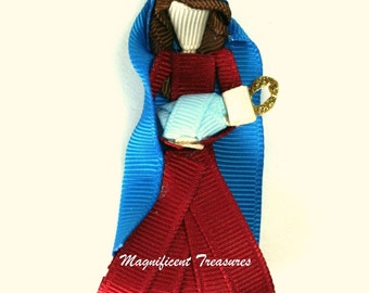 Mary and Baby Jesus Ribbon Sculpture