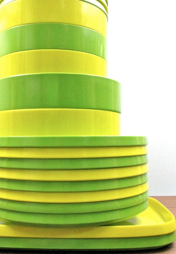 Lemon and Lime Oblique Stackable Melamine