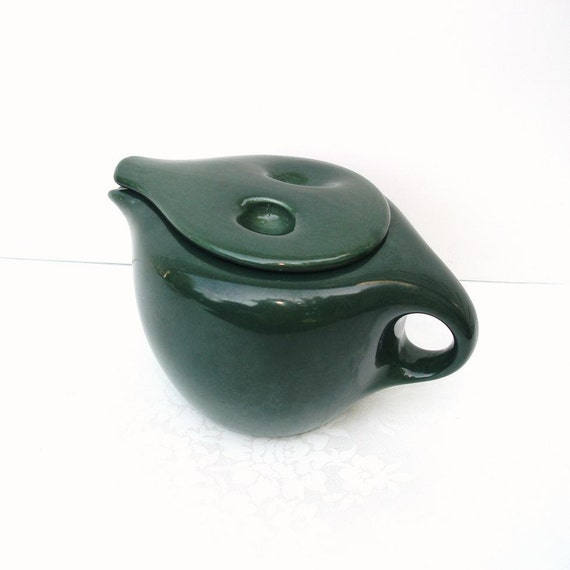 Vintage Teapot Mid Century Russel Wright Iroquois Coffee Server Green Tea Pot Atomic Art Parsley Futuristic Kitchenware