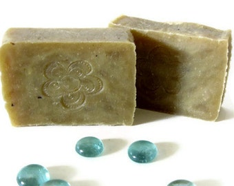 Beach Daisies Soap - Handmade Soap - Hot Process Bar - Vegetable Based Soap - Delicate by Nature