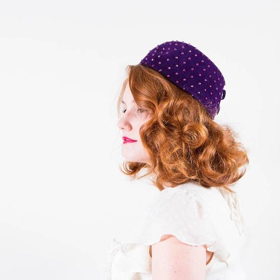 sale / vintage 1960s hat / pillbox / Volk