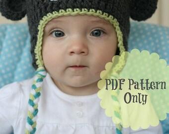 Sock Monkey Pattern, Crochet Monkey Hat Pattern, Crochet Pattern - Permission to Sell