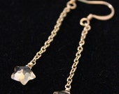 Citrine Star Chain Dangle earrings