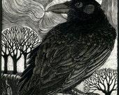 Raven Moon Art Card