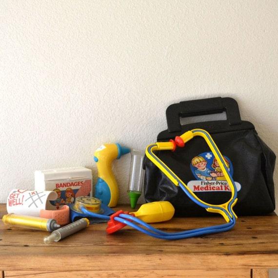 1980s Fisher Price Doctor's Bag Medical Kit by StoryTellersVintage