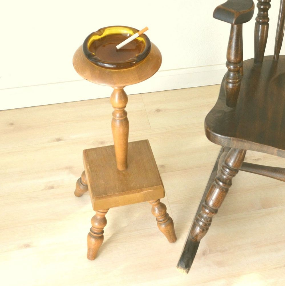 Ashtray Pedestal Stand Table Height 60s By Storytellersvintage