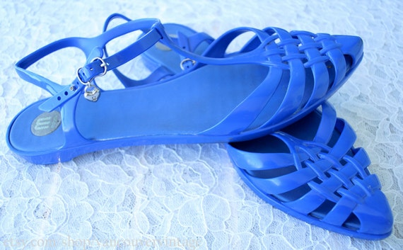 Melissa Jelly Shoes - Jellies - Plastic Shoes - Vegan Shoes - Blue - Size 9