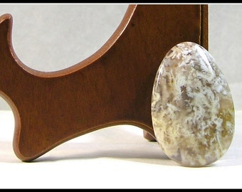 Designer Teardrop Cabochon Made From Graveyard Point  Plume Agate  From The Owyhee Country