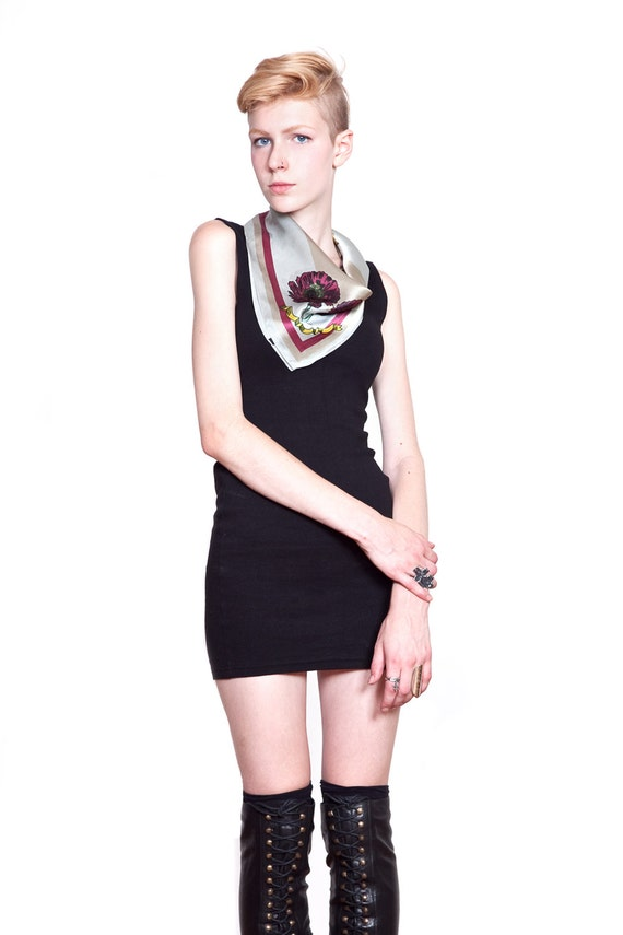 "silk cat scarf - Artemis - 21"" x 21"""